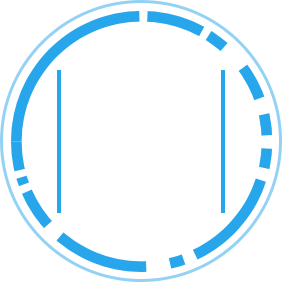 SOC 3 icon blue and white