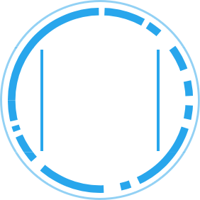 SOC suite Icon Blue and White